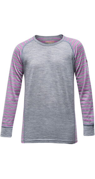 Devold Juniors Breeze Shirt Peonystripes